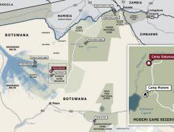Topography of Botswana Safari