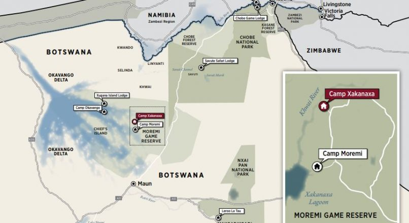 Topography of Botswana Safari