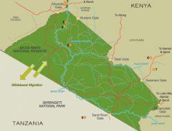 Maasai Mara Map in Kenya